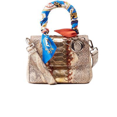 vintage python shoulder bag